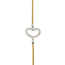 Gold Bracelet: Heart in Diamonds