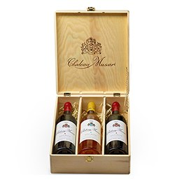Wine: Chateau Musar, Red, White, Prestige, Wooden