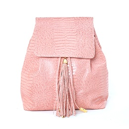 Backpack: Leather, Pink