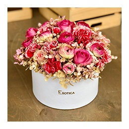 Flowers:  Mixed Pink in a White Box
