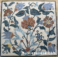 Marble Mosaic Flower Design (MF 006)