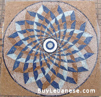 Marble Mosaic Geometric Design (MG 119)