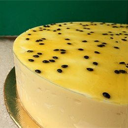Cake: Passion Fruit Mousse, for 12 people