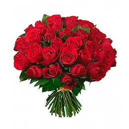 Flowers:  50 Red Roses (Dress in Red)